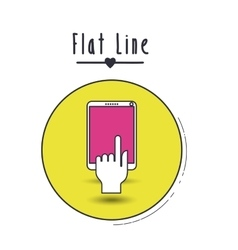 Flat line icon design vector
