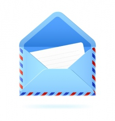 Foreign mail icon vector