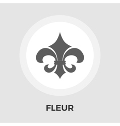 Fleur flat icon vintage style vector