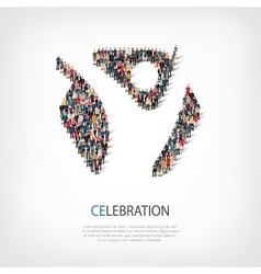 Celebtration people sign 3d vector