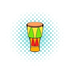 Atabaque musical instrument icon comics style vector