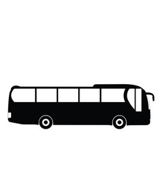 black silhouette on a bus vector image