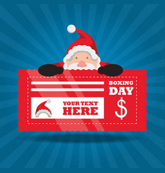 boxing day design vector image vector image