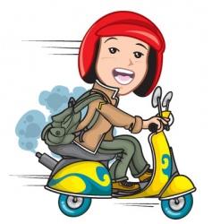 Cartoon scooter vector