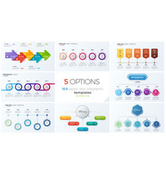 Collection of eight templates for vector