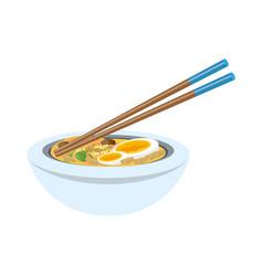 Delicious ramen soup vector