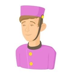 Doorman icon cartoon style vector