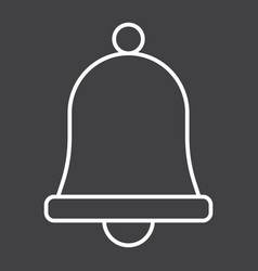 Easter bell line icon easter and holiday vector