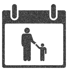 Father calendar day grainy texture icon vector