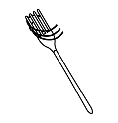 Fork with spaghetti icon outline style vector image vector image