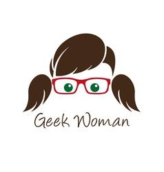 Geek woman vector