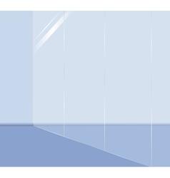 glass wall vector image