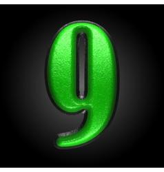 Green plastic figure 9 vector