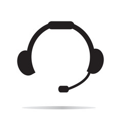 Headset icon on white background headset symbol vector