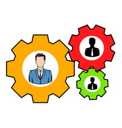 Human resources icon icon cartoon vector
