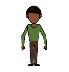 Man faceless male avatar body image vector