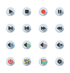 Media Player Icons vector image vector image