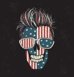 modern american skull vector image