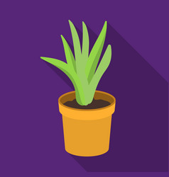 office plant in th flowerpot icon in flat style vector image