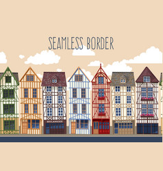 old town seamless border vector image vector image