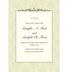 ornate header frame vector image vector image