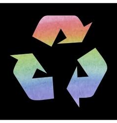 Recycle logo concept watercolor effect vector