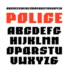 Sanserif font in military style vector