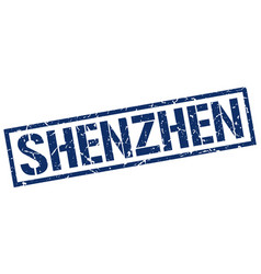 Shenzhen blue square stamp vector
