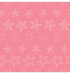 Starfish pink pastel stripe line art seamless vector image vector image