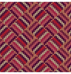 Style Seamless Color Knitted Ornament Pattern vector image