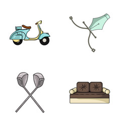 Transport sport and other web icon in cartoon vector