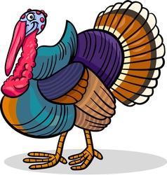 turkey farm bird animal cartoon vector image vector image