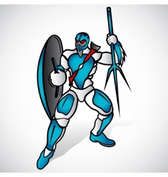 Warrior with a spear vector