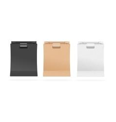 Empty Paper Shopping Bag Set vector image