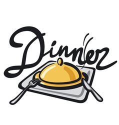 Dinner sign vector
