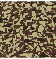 Military camouflage brown pattern vector