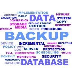 Word cloud backup vector