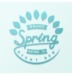 Author design label spring vector