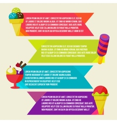 Decorative ice cream paper banners set vector