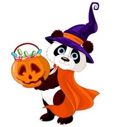 Halloween panda vector