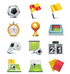 vector soccer icon set vector image