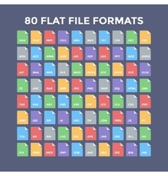 File Formats Icons vector image
