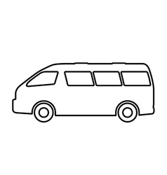 Set of silhouettes of passenger cars vector