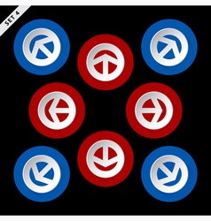 Red and blue arrows - in eight directions vector