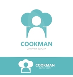 Chef and cooking logo design template vector