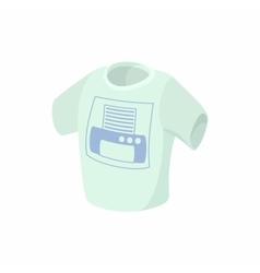 T shirt with printer icon cartoon style vector