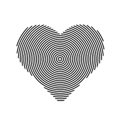 Halftone line heart shape icon heart vector