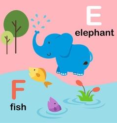 Alphabet e f vector