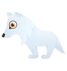 Arctic Polar wolf vector image vector image