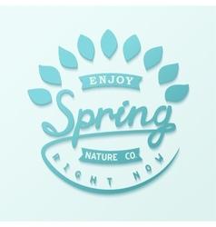 Author design label spring vector